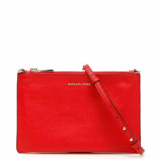 MICHAEL MICHAEL KORS CROSSBODY CLUTCH OS Red Leather