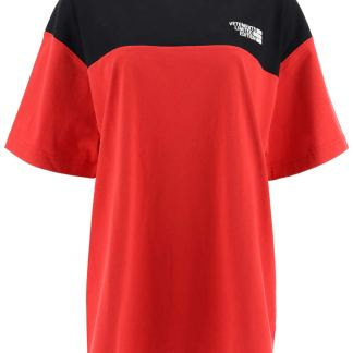 VETEMENTS T-SHIRT WITH LOGO EMBROIDERY M Red, Black Cotton