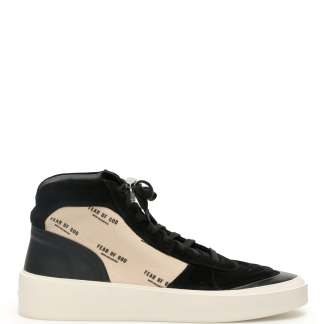 FEAR OF GOD STRAPLESS SKATE MID SNEAKERS 40 Black, Beige Leather