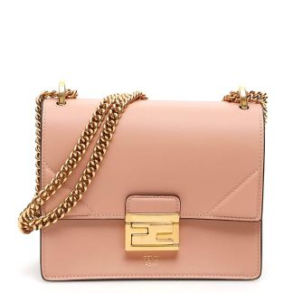 FENDI SMALL KAN U BAG OS Pink Leather