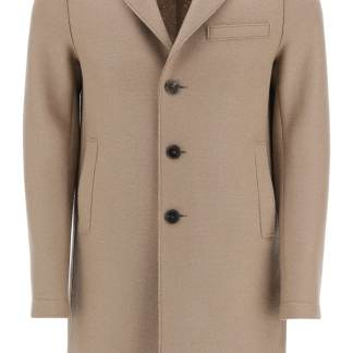 HARRIS WHARF LONDON BOXY WOOL COAT 48 Beige, Brown Wool