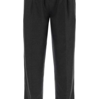 THE GIGI WOOL TROUSERS WITH DRAWSTRING 48 Grey Wool