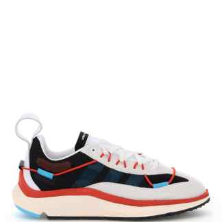 Y-3 SHIKU RUN SNEAKERS 11 White, Red, Light blue Technical, Leather