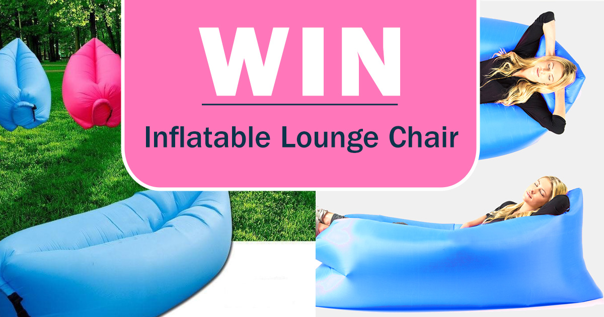 inflatable lawn chair office or gaming win an lounge members only prize draw freebies com