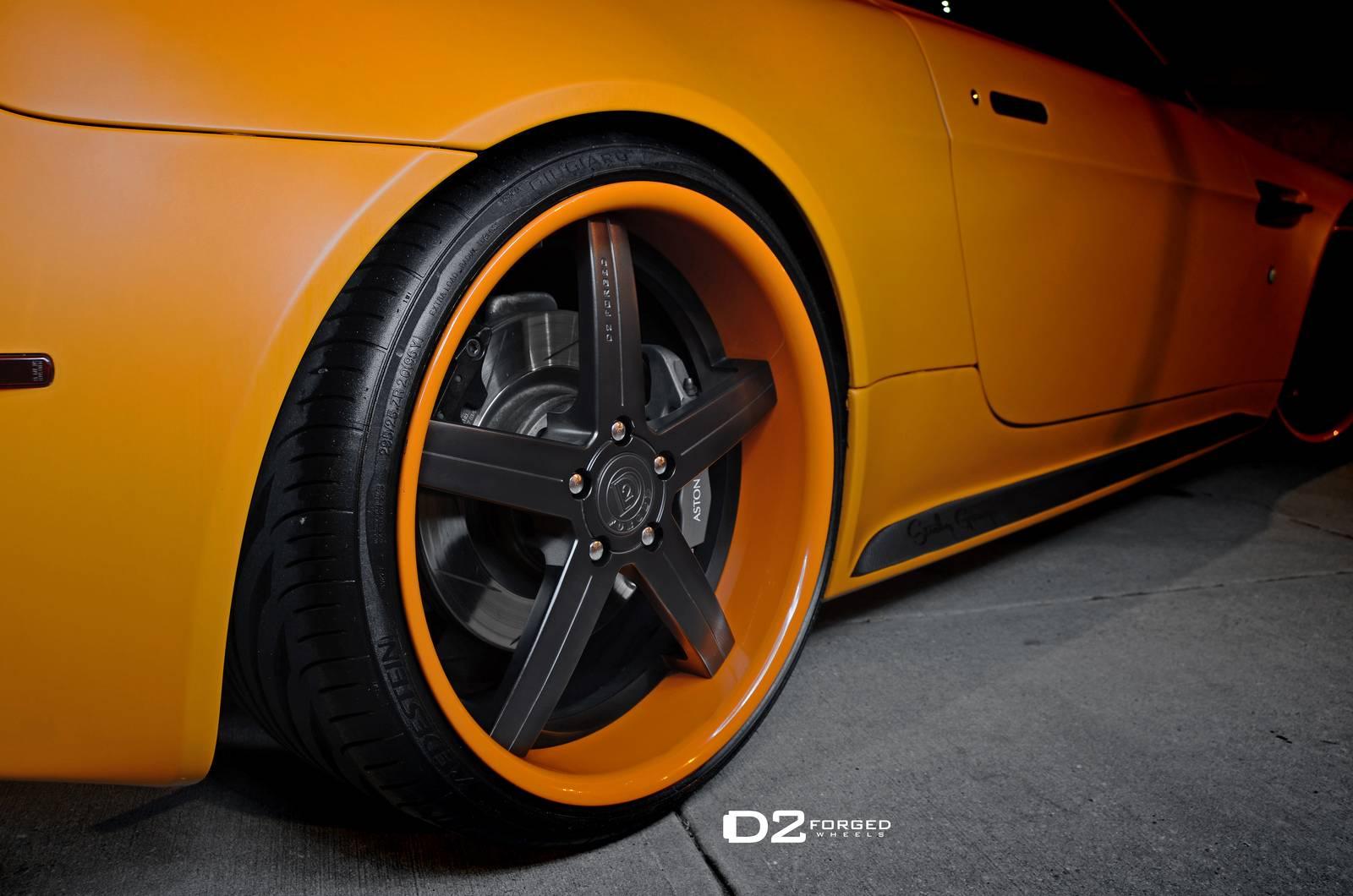 Gallery Orange Aston Martin V8 Vantage Roadster On D2forged Wheels