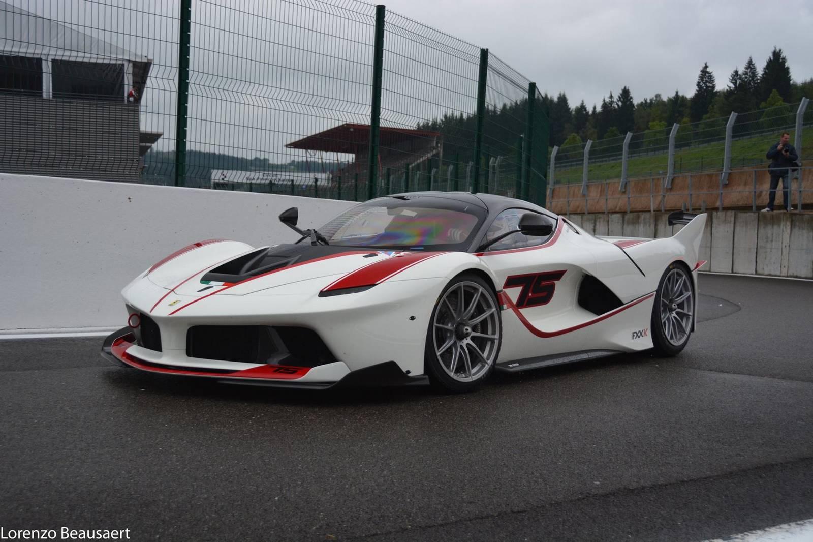 Gorgeous White Ferrari Fxx K Stuns At Spa!  Gtspirit