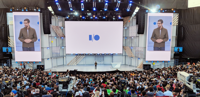 Google Assistant Sundar pichai at Google I/O '18