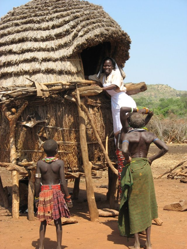 MBB-trained nurse in South-Sudan village