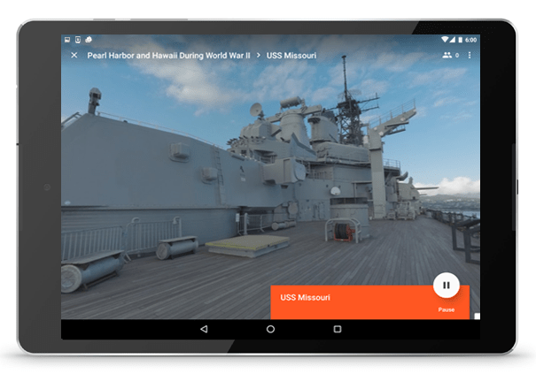 Explore Pearl Harbour thorugh Google Expeditions