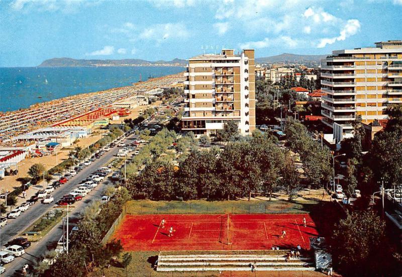 Italy Riccione Panorama Hotel Tennis Field Promenade Beach