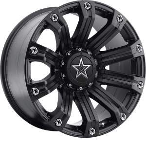 TIS 534B Satin Black w/ Chrome Bolt Accents and Chrome T-Star Cap