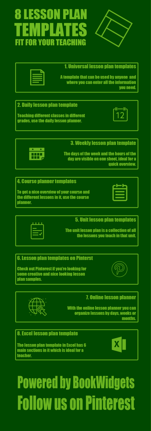 small resolution of 8 Free lesson plan templates fit for your teaching - BookWidgets