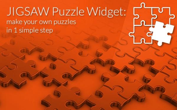 the jigsaw puzzle widget