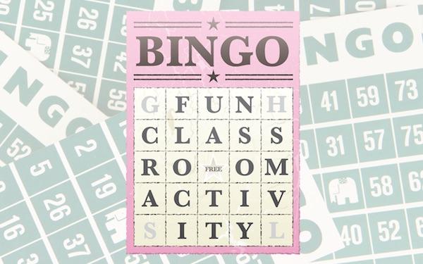 fun classroom activity bingo