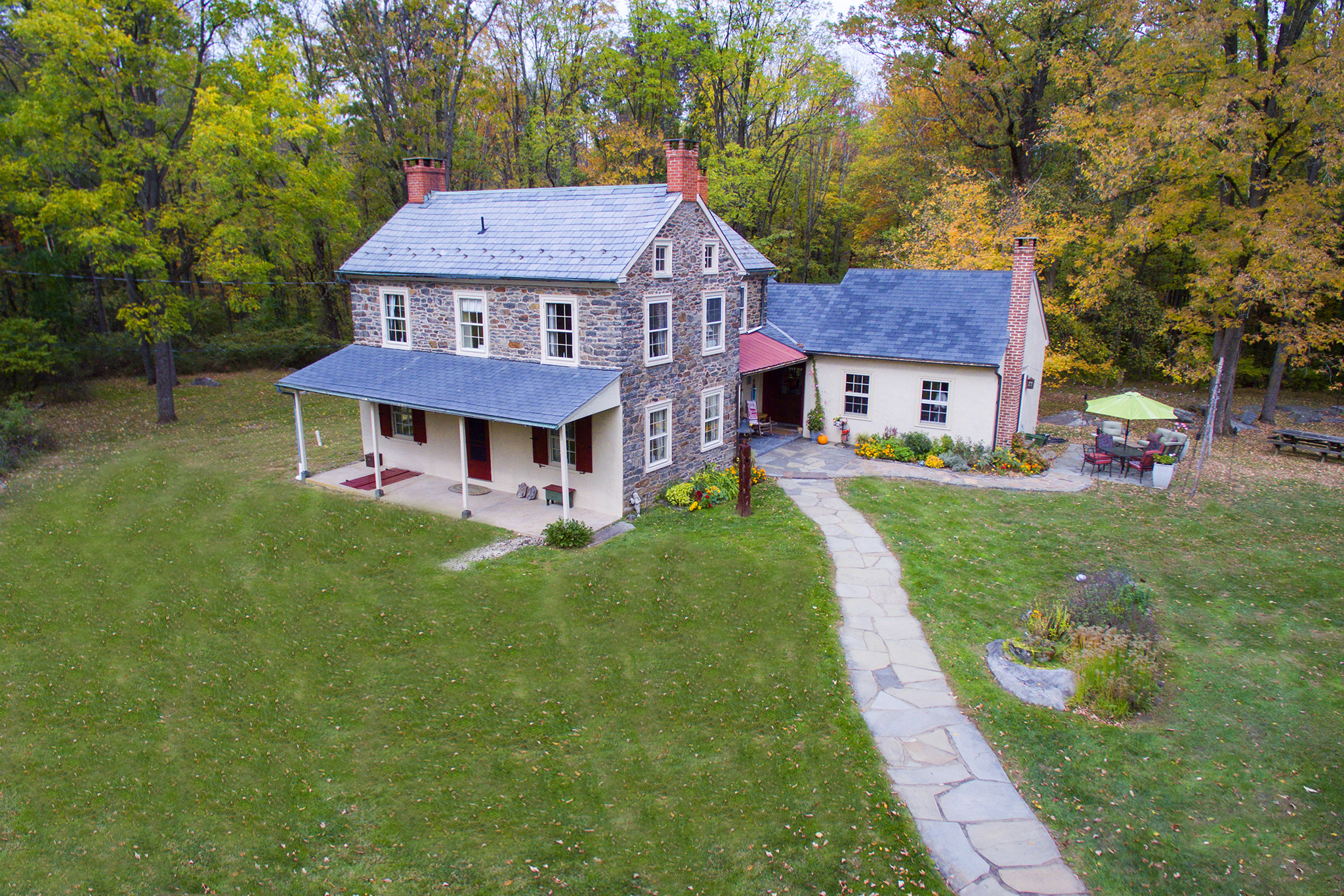 Fern Rock Bucks County Stone Farm House For Sale In
