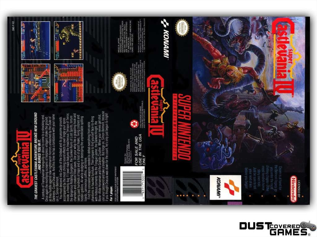 Super Castlevania Iv Snes Super Nintendo Game Case Box Cover Brand New Quality Ebay