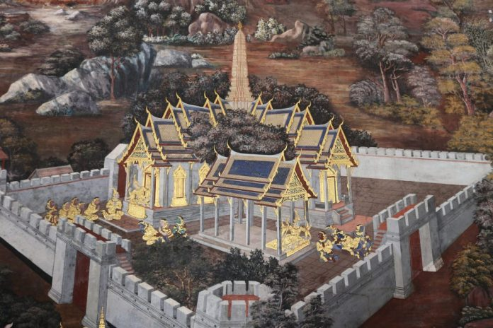 Mural of the temples, Bangkok © Courtesy of Kelly Iverson