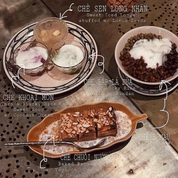 Sweet desserts beans and jelly