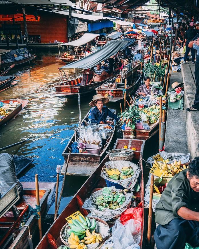 how to go to damnoen saduak floating market by bts