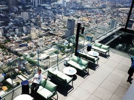 The bar on the rooftop of ManaNakhon Tower