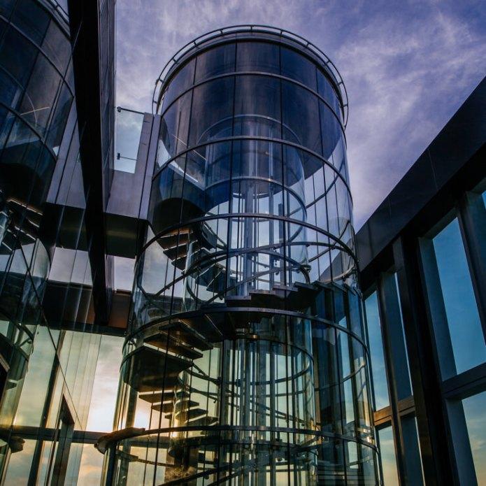 The hydraulic lift leads to MahaNakhon Skywalk