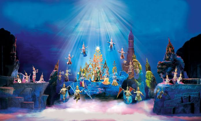 Blissful Heaven - a wonderful stage setting during Siam Niramit Bangkok Show
