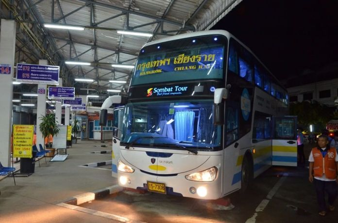 A bus parking at an airport