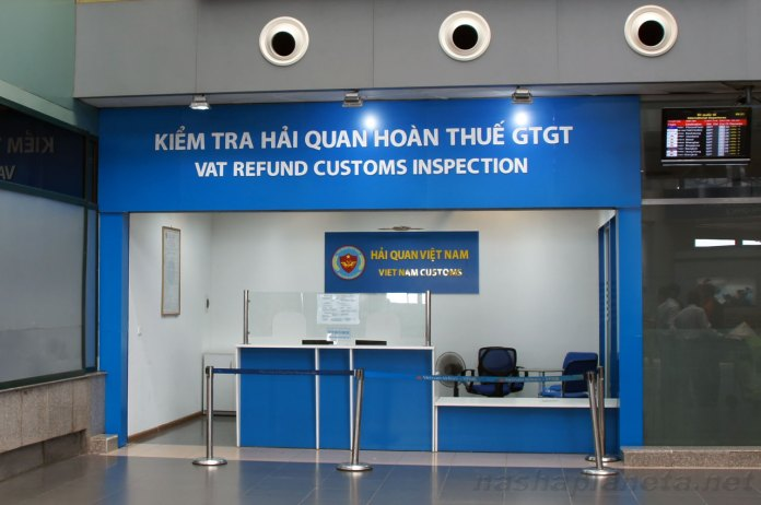 VAT Refund counter at Ho Chi Minh city airport