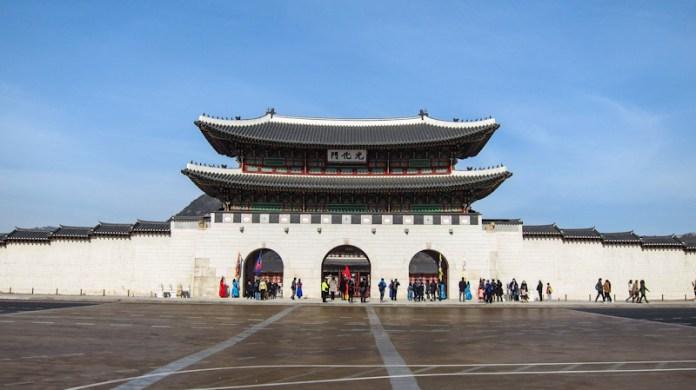 cổng gwanhwamun cung điện gyeongbokgung