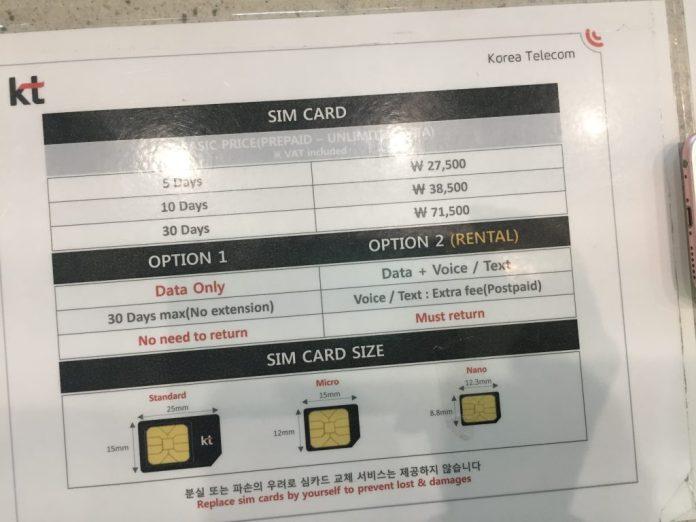 Nên sở hữu sim 4G theo kinh nghiệm du lịch Hàn Quốc tự túc