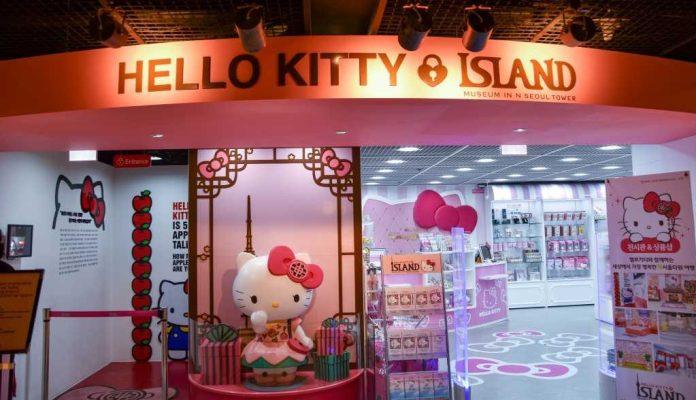 Hello Kitty tại tháp Namsan