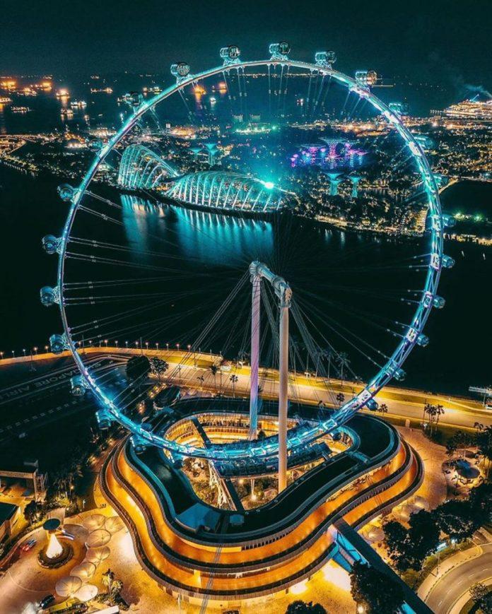 Kinh nghiệm du lịch Singapore, ngắm cảnh từ Singapore Flyers