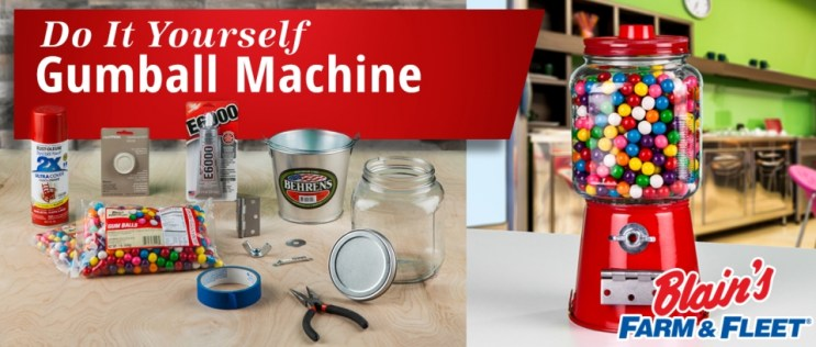Do It Yourself Gumball Machine Craft