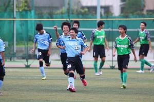 先制点を挙げた藤井選手。クラブユース選手権関東大会でもゴールを重ねた
