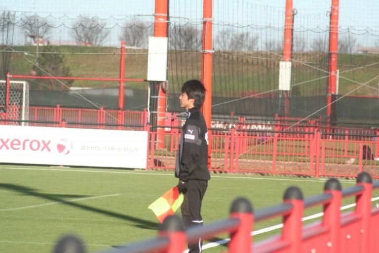 怪我でこの大会を欠場した村田聖樹選手は副審を務めた