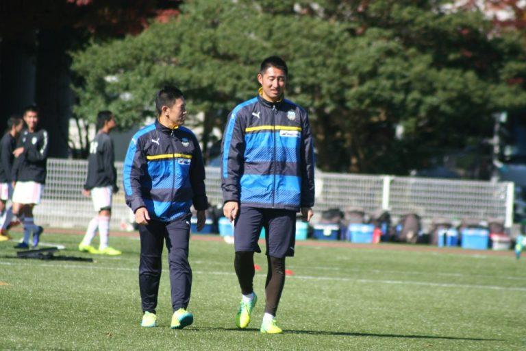 関智久トレーナー、鈴木洋平GKコーチ