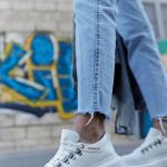 Women's Lace-up White Sport Shoes
