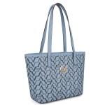 Women's Patterned Blue Bag