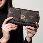 Women's Patterned Brown Wallet