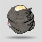 Men's Printed Grey Neck Warmer Scarf