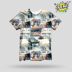 Men's Digital Print Multi-color T-shirt