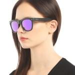 Unisex Black Plastic Sunglasses