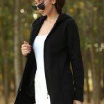 Unisex Hooded Black Jacket
