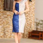 Women's Sequined Saxe Dress