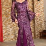 Glitter Purple Evening Dress