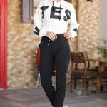 Women's Elastic Waist Black Sweatpants