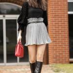 Women's Pleated Grey Skirt