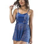 Strappy Saxe Nightgown
