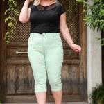 Oversize Mint Green Capri Pants