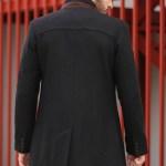 Men's Crew Neck Black Coat